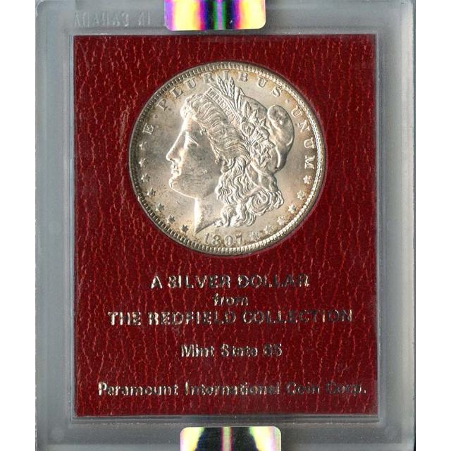 1897 $1 Redfield Hoard Morgan Dollar NGC MS63