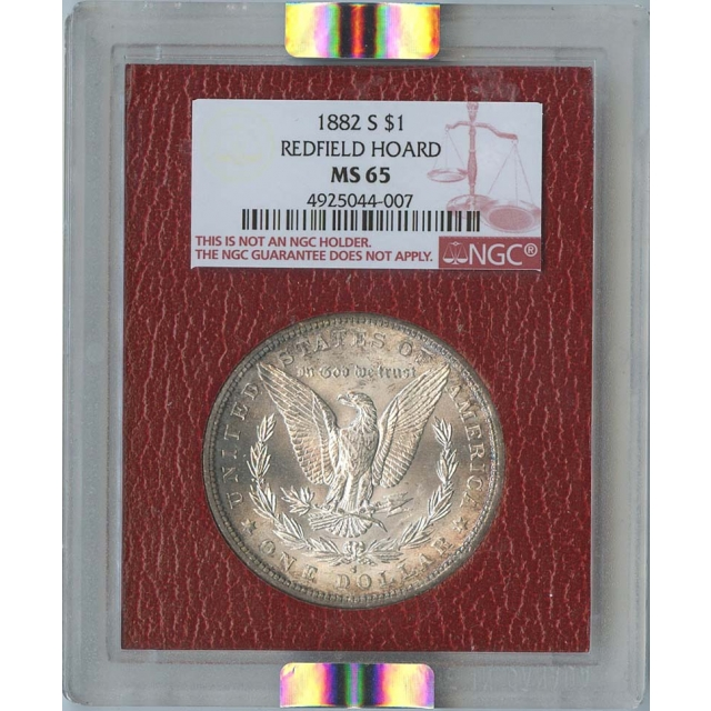 1882-S $1 Morgan Silver Dollar NGC MS65 Redfield Collection