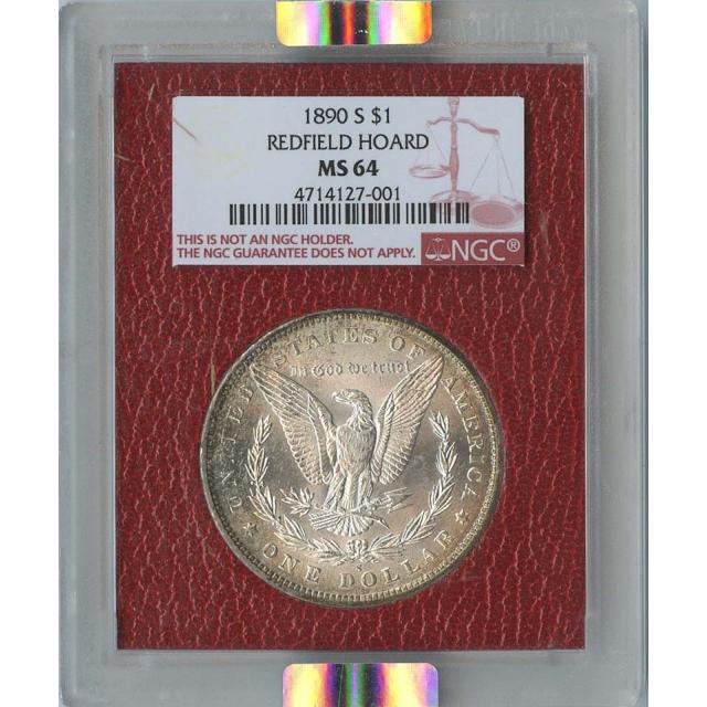 1890-s $1 Redfield Hoard Morgan Dollar NGC MS64