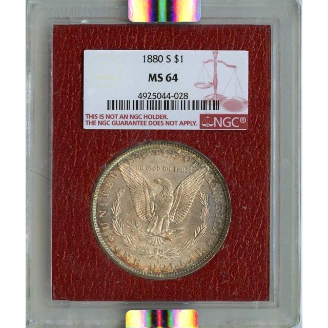 1880-S Morgan Dollar S$1 NGC MS64 Paramount
