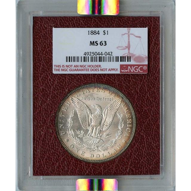 1884 Morgan Dollar S$1 NGC MS63 Paramount