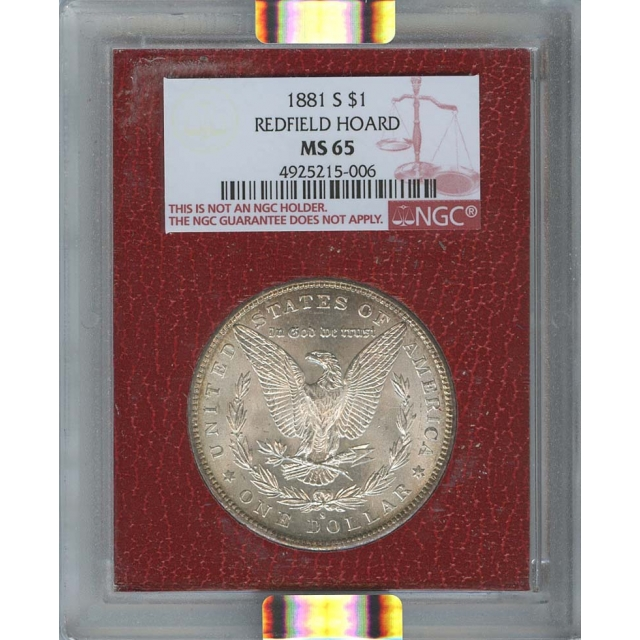1881-S $1 Morgan Dollar NGC MS65 Redfield Collection