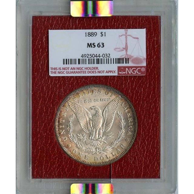 1889 Morgan Dollar S$1 NGC MS63 Paramount