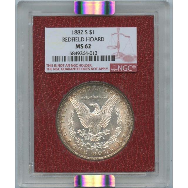 1882 S $1 Morgan Dollar Redfield Hoard NGC MS 62