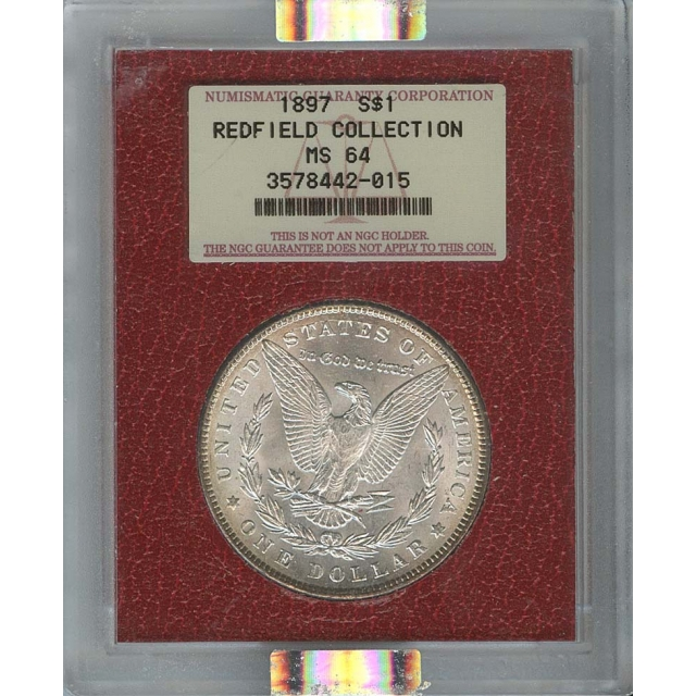 1897 $1 Morgan Dollar NGC MS64 Redfield Collection