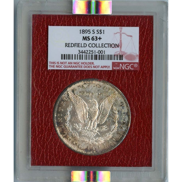 1895-S Morgan Dollar S$1 NGC MS63+ Redfield Collection