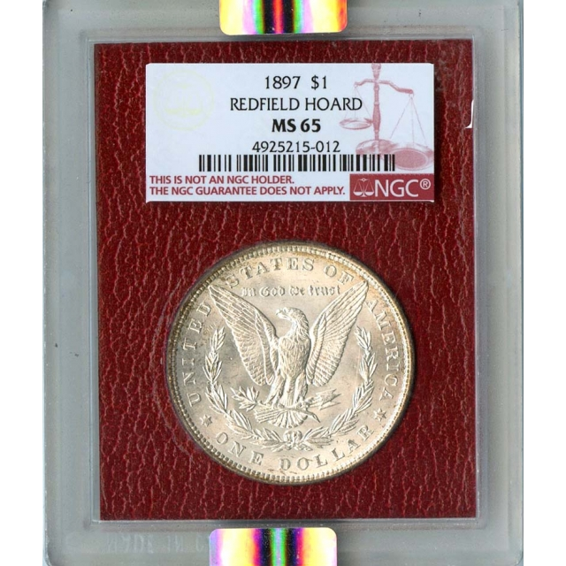 1897 $1 Morgan Silver Dollar Redfield Collection NGC MS65