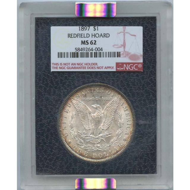 1897 S$1 Morgan Dollar Redfield Hoard NGC MS62