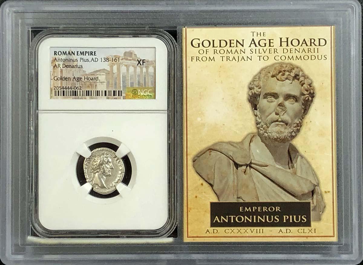 Antoninus Pius AD 138-161 ROMAN EMPIRE Denarius NGC XF40 Story Vault